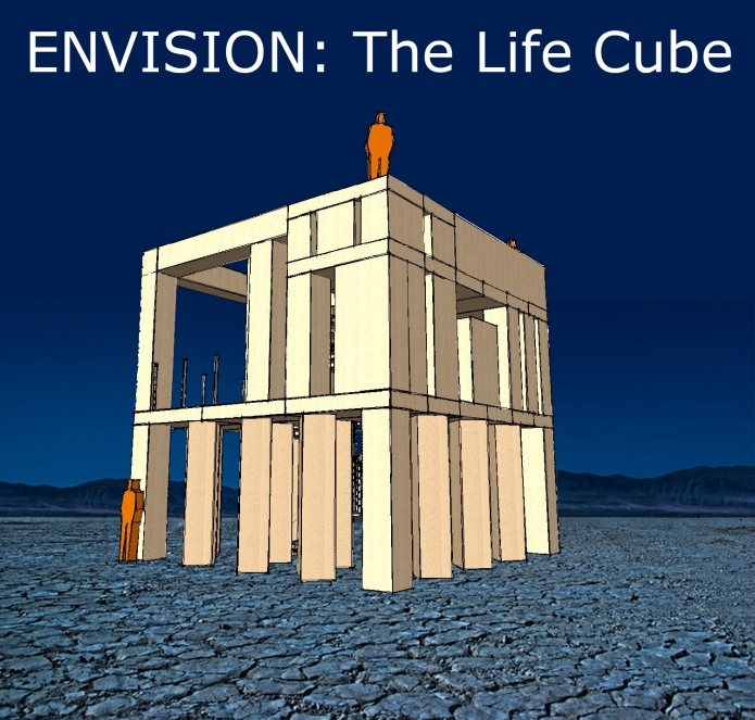 Life Cube On The Playa4 with title