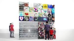 Cube V1 Mural Glass Fense