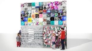 Cube V1 Side 2 Mural Glass Fense